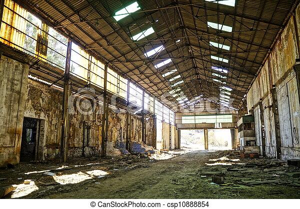 Abandoned empty warehouse - csp10888854