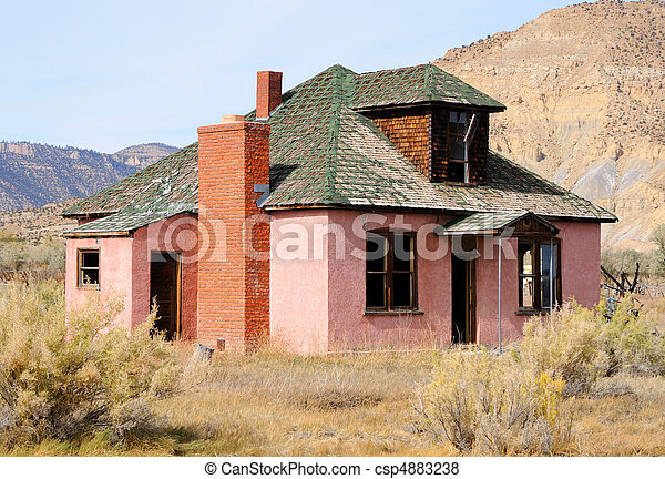 Abandoned Farmhouse in Dying Town - csp4883238