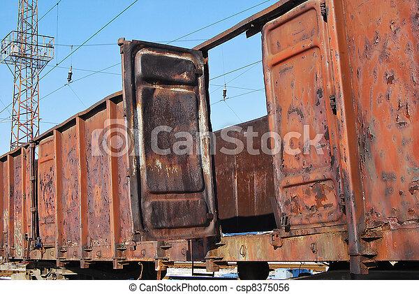 Abandoned goods wagon - csp8375056