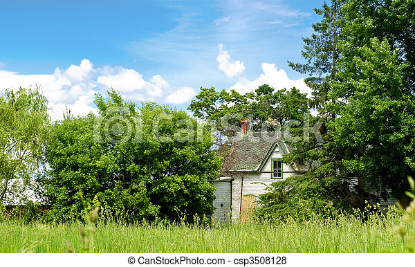 Abandoned House in the Country Side - csp3508128