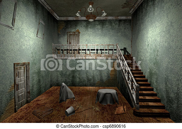Abandoned House 3d Render Stock Illustration Search