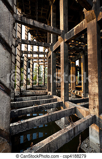 Abandoned industrial facility - csp4188279