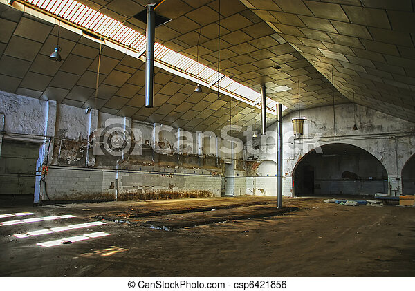 Abandoned Industrial Interior Old Empty Factory