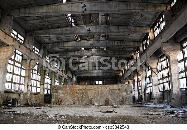 Abandoned Industrial interior - csp3342543