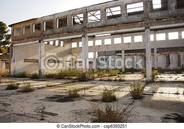 Abandoned old factory of building  - csp6393251