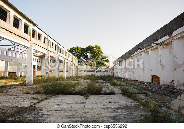 Abandoned old factory of building  - csp6556292