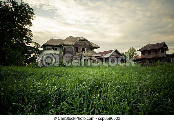 abandoned old house - csp8596582