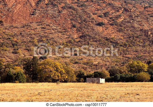 Abandoned Shack Against Majestic Mountain   - csp10011777