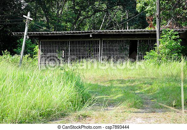 Abandoned warehouse - csp7893444