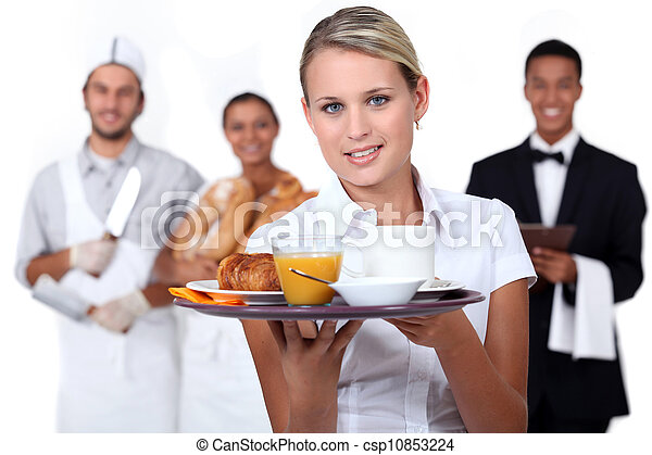 Personal de catering - csp10853224