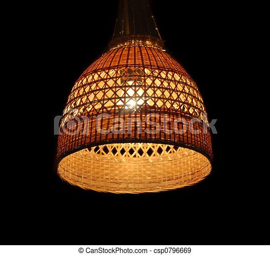 Abat-jour, osier, lampe, éclairage, noir photographies de stock ...