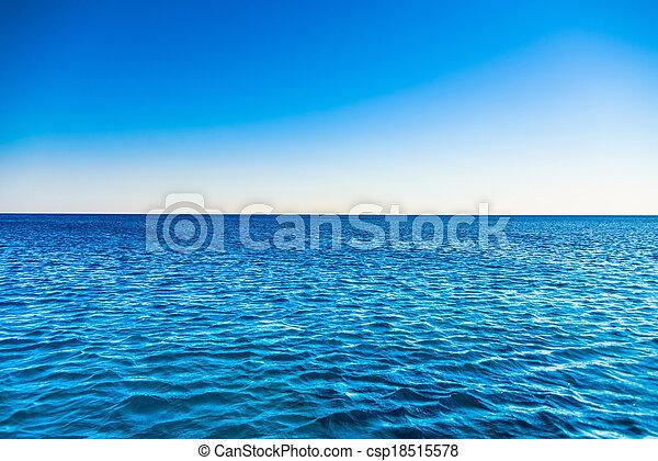 abbandonato, spiaggia, mare - csp18515578