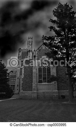 Abbey in Storm - csp0003995