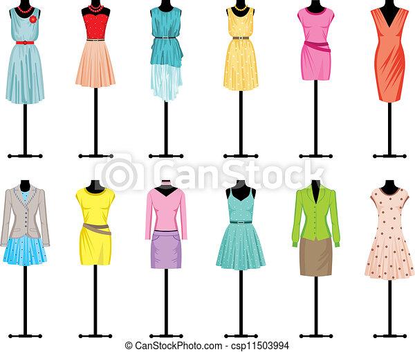 abbigliamento, indossatrici, donne - csp11503994