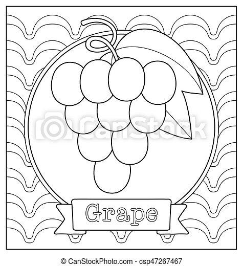 Niedliche Fruchtdarstellung für Farbbuch - csp47267467