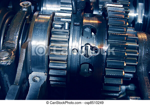 abbondante, set, automobile, metallo, meccanismo, greasing, ingranaggi, collegato - csp8510249