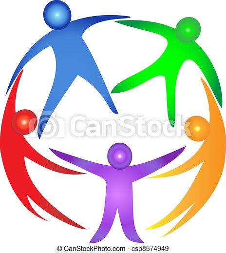 abbraccio, lavoro squadra - csp8574949