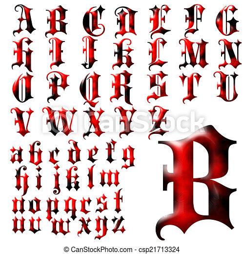 abc alphabet lettering design csp21713324