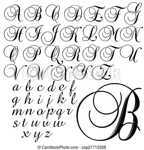 abc alphabet lettering design csp21713328
