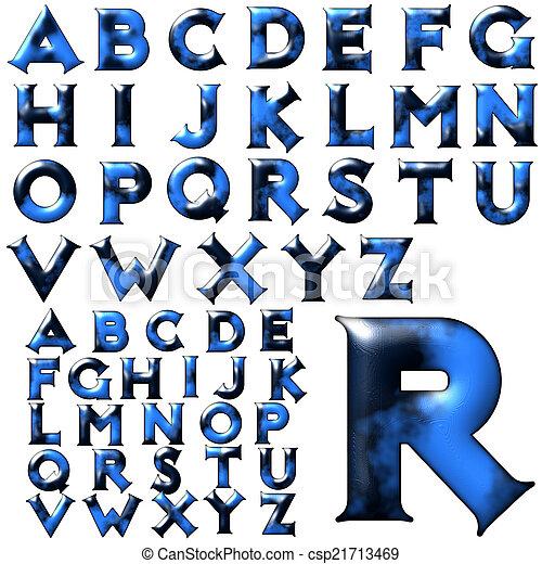 ABC Alphabet Lettering Design
