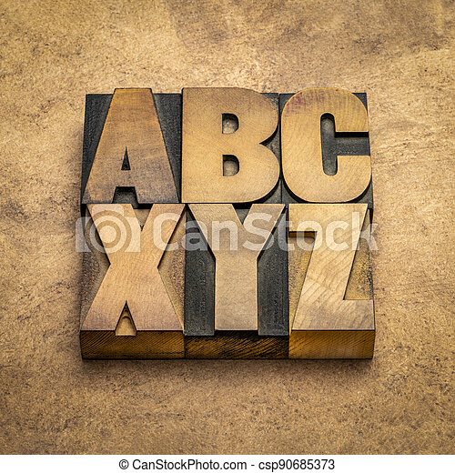 abc and xyz - first and last letters of alphabet - csp90685373