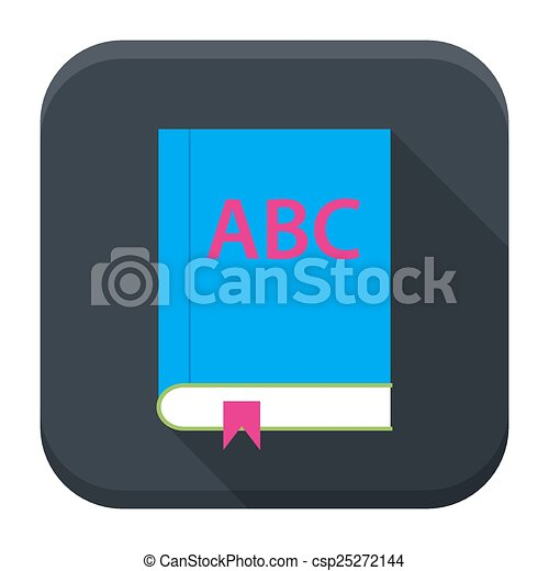 ABC English Book App icono con sombra larga - csp25272144