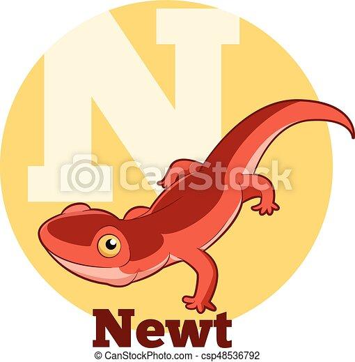 vector image of the abc cartoon newt rh canstockphoto com new clip art free new clip art free