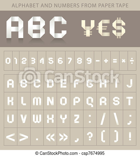 ABC font from paper tape - csp7674995