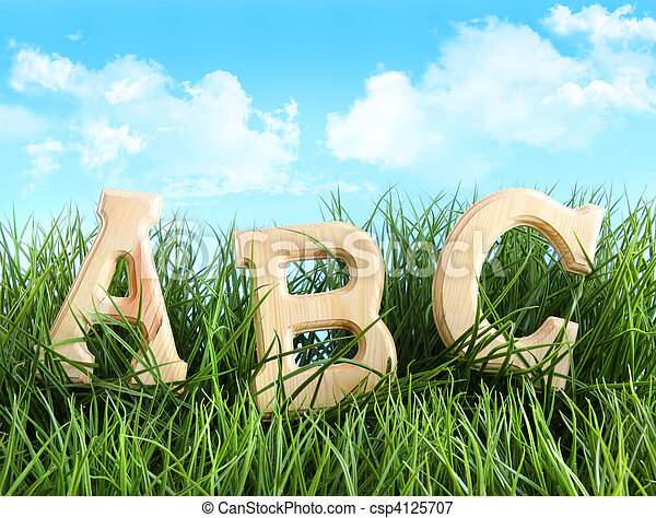 ABC letters in the grass - csp4125707