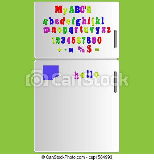 abc lettres alphabet frigidaire illustration aimant dessins rechercher clipart. Black Bedroom Furniture Sets. Home Design Ideas