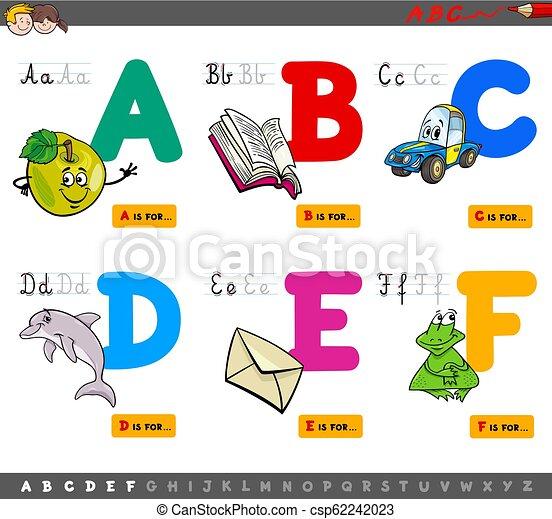 abc, nevelési, irodalomtudomány, karikatúra - csp62242023