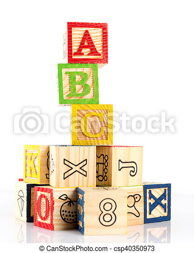 ABC wooden blocks - csp40350973
