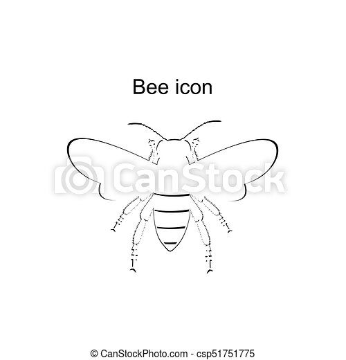 abeille miel, icône - csp51751775