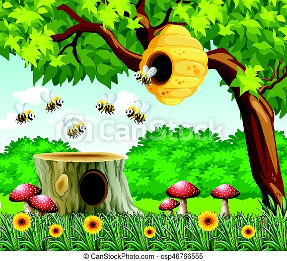 Abeilles voler jardin sc ne abeilles voler jardin for Art jardin ochsenfurt