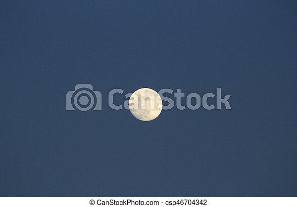 abend, voll, himmelsgewölbe, mond - csp46704342