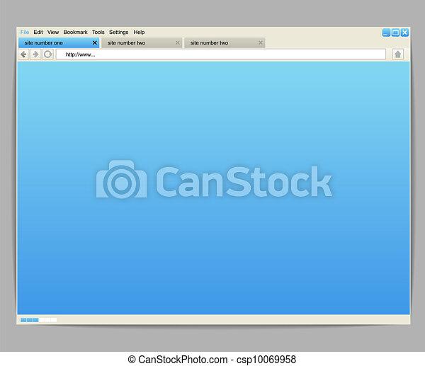 aberta, conteúdo, janela, modelo, qualquer, browser - csp10069958