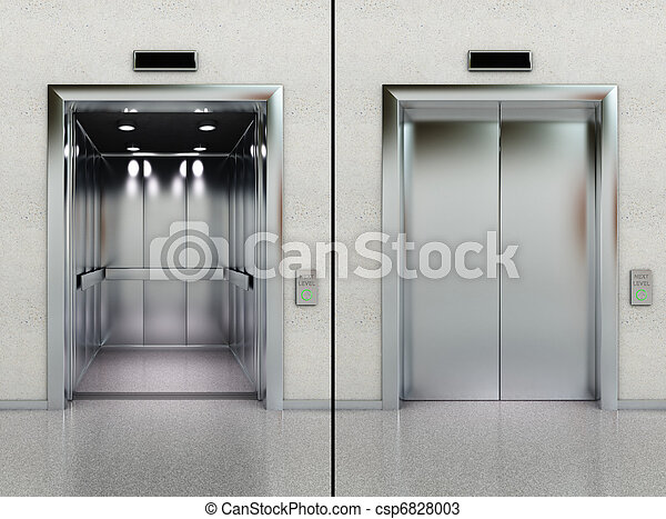 abertos, fechado, elevador - csp6828003