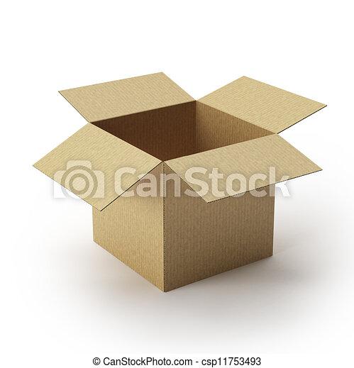 Caja de cartones abierta. - csp11753493
