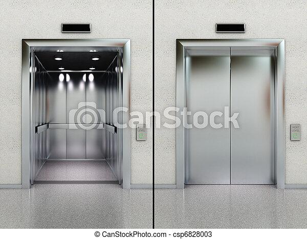 El ascensor está abierto y cerrado - csp6828003