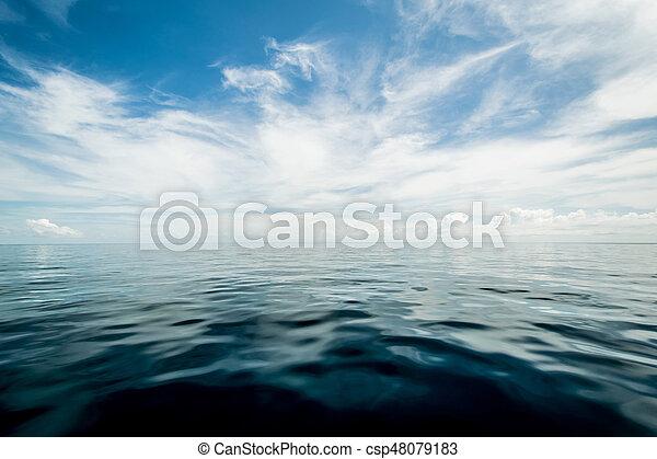 abierto, cielo, nublado, océano - csp48079183