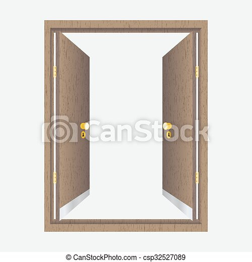 La puerta abierta con marco - csp32527089