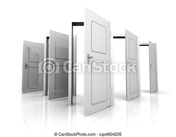 Abran las puertas - csp4604205