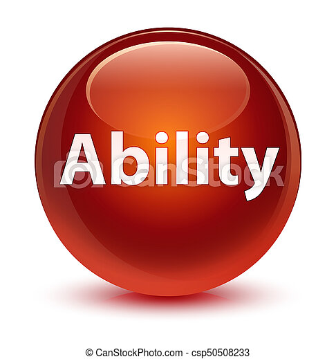 Ability glassy brown round button - csp50508233