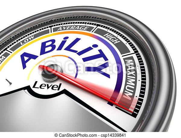 ability level conceptual meter  - csp14339841