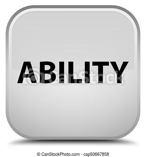 Ability special white square button - csp50667858