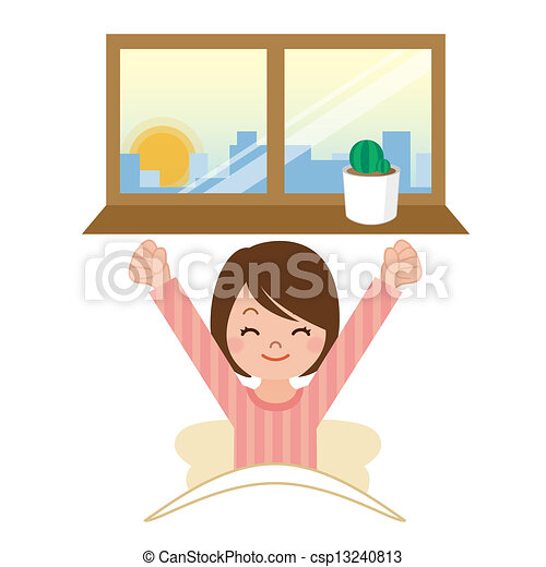 ability to wake up rh canstockphoto com get up clipart boy waking up clip art