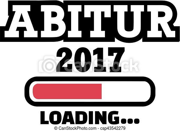 Abitur 2017 Loading. Graduation high school - csp43542279
