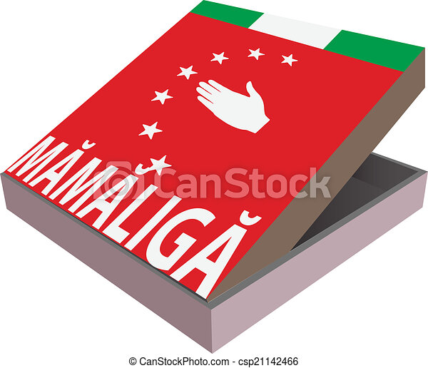 Box for the abkhazia national food mamaliga clip art for Abkhazian cuisine