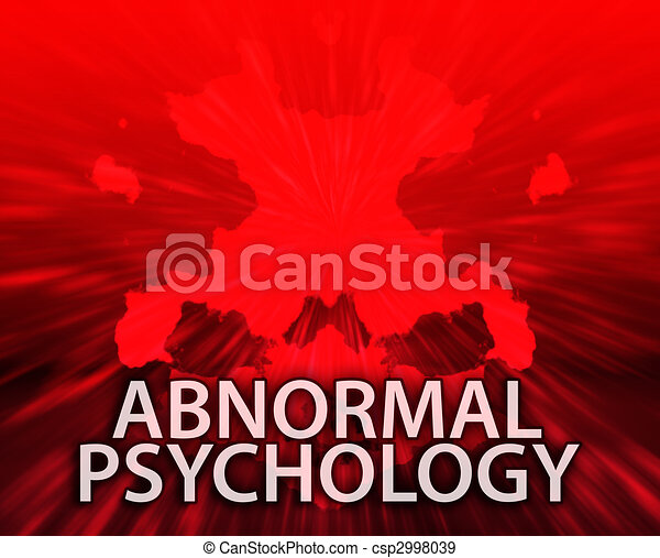 Abnormal psychology inkblot background - csp2998039