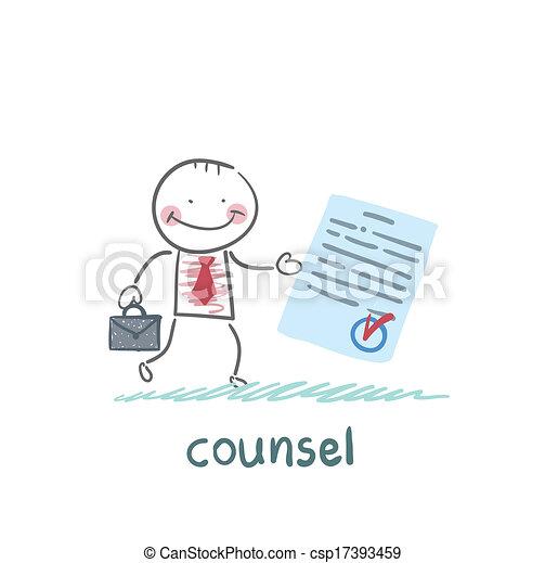 El abogado muestra el documento - csp17393459